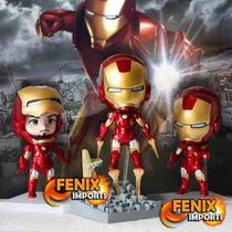 Kit 3 Bonecos Homem De Ferro Iron Man Marvel Vingadores
