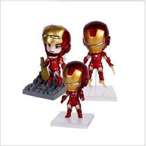 Boneco Miniatura Homem De Ferro - 3 Peças - Marvel