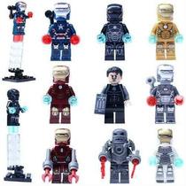 Iron Man Homem De Ferro Lego Compatível 9 Bonecos