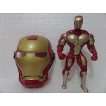 Boneco + Máscara Homem De Ferro Iron Man Vingadores