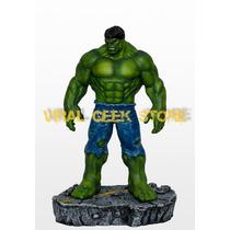 Boneco Hulk / Estátua Em Resina 42 Cm