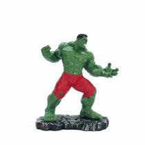 Boneco Incrível Hulk Em Resina.