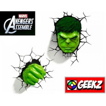 Kit 2 X Luminárias 3d Light Fx Hulk Cabeça/mão Frete Grátis