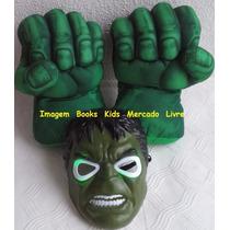 Kit Máscara E Mãos Do Incrível Hulk Par De Luvas De Espuma