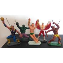 Super Heróis Gulliver - Hulk,príncipe Namor E Falcão