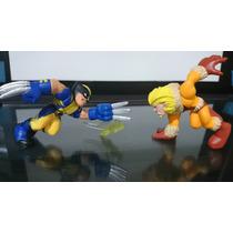 Bonecos Marvel Super Hero Squad Wolverine X Dente De Sabre