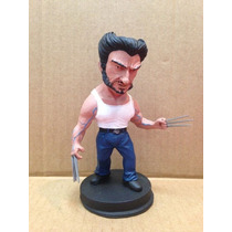 Estátua De Resina Miniatura X-men Wolverine - 14 Cm