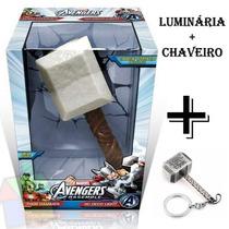 Luminária Led Thor Martelo 3d Vingadores + Chaveiro Brinde
