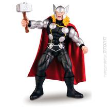 Boneco Thor Premium Marvel Gigante 55 Cm Articulado - Mimo