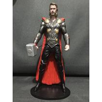 Thor - Estátua Em Resina, Esculpida E Pintada À Mão De 20 Cm