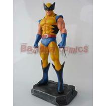 Boneco Wolverine - Estátua Em Resina 34 Cm