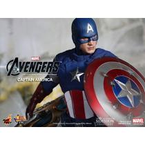 Hot Toys Captain America Avengers Chris Evans Capitao Americ