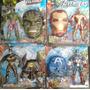 Kit 4 Mascaras Hulk + Batman + Capitão América + Homem De Fe