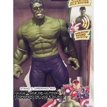Hulk - Os Vingadores 30 Cm C/ Emite Efeito De Voz E Ação