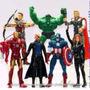 Bonecos Articulados Vingadores Hulk Thor Homem Aranha Ferro