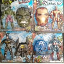 Bonecos Vingadores + Mascara- Super Heroes Marvel