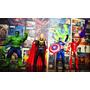 Avengers - Bonecos Thor Hulk Capitão America Homem De Ferro
