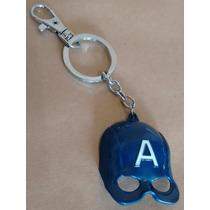 Chaveiro Marvel Avengers Vingadores Capitão América Azul