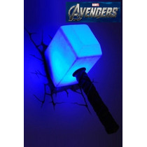 Luminária Thor Martelo Mjolnir Vingadores Marvel Boneco