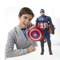Boneco Capitão América Civil War Eletrônico 30cm Avengers
