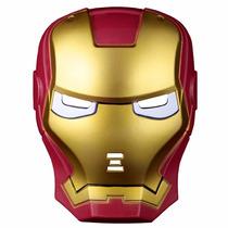 Máscara Homem De Ferro Com Led Vingadores 2 Heróis Marvel