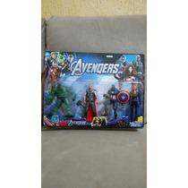 Kit 4 Bonecos Vingadores Viuva Negra Thor Hulk 15cm