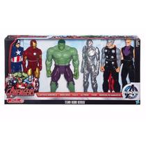 6 Bonecos Marvel Avengers Titan Hero Series 30cm, Vingadores