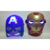 Kit 2 Máscaras Guerra Civil Capitão América Homem De Ferro