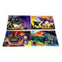Batman 11 Bonecos + 5 Telias Para Colorir E 4 Quebra Cabeças