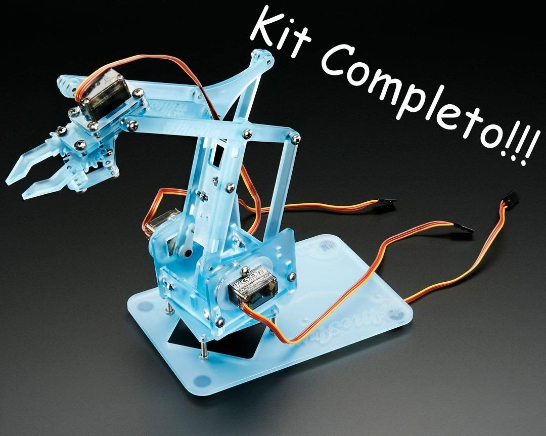 Super kit braço róbotico educacional completo p arduino
