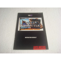 Super Nintendo - Full Throttle (somente O Manual) Novinho !!
