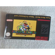 Label Super Mario World Return Super Nintendo Cartucho