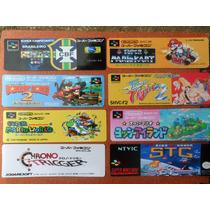 Labels - Etiquetas Para Cartuchos Super Famicom - Jap/euro