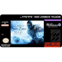 Label - Mortal Kombat 2000 Sub-zero - Personalizo Todas !