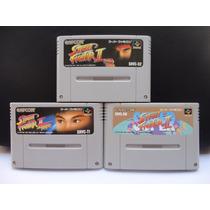 Super Nintendo Cartuchos Street Figther 2, Sf2 Turbo E Ssf 2