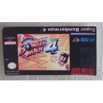 Label Super Bomberman 4 Cartucho Super Nintendo Game Fita Sn