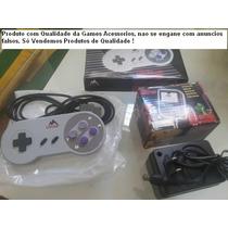 Kit 2 Controles E 1 Fonte Super Nintendo