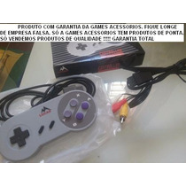 Kit Super Nintendo 1 Cabo Av + 1 Controle + 1 Fonte