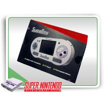 Snes Console Portátil Supaboy Roda Usa-eur-jap