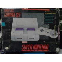 Super Nintendo Completo Com Caixa + Mario World De Brinde