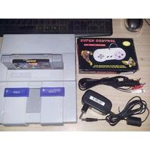 Super Nintendo + 2 Controles + Fonte Bivolt + Av+cabo Antena