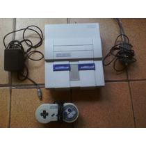 Super Nintendo + 1 Controle + Fonte Original + Cabo Rf