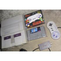 Super Nintendo Completo + 2 Controles + Mario World