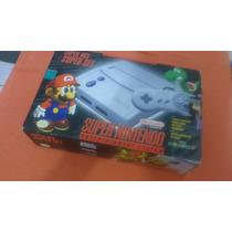 Super Nintendo 1 Controle + Super Mario World Com Caixa