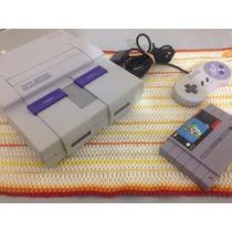Super Nintendo C/garantia + Super Mario World + Jogo Brinde