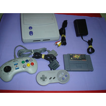 Videogame Super Nintendo Com 2 Controles E 1 Fita Pac Man