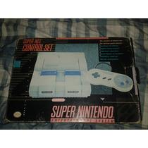 Super Nintendo Na Caixa E Super Mario World