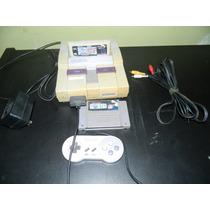 Super Nintendo Com 2 Fitas.