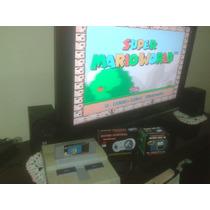 Super Nintendo Snes Com Super Mario Original Leilão!
