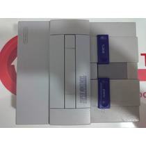 Super Nintendo Completo 2 Controles Cabos Fonte Cartucho